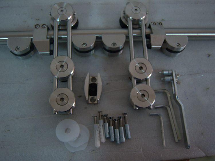 批发佛山产业美标304不锈钢滑轮玻璃门吊轮移门五金配件