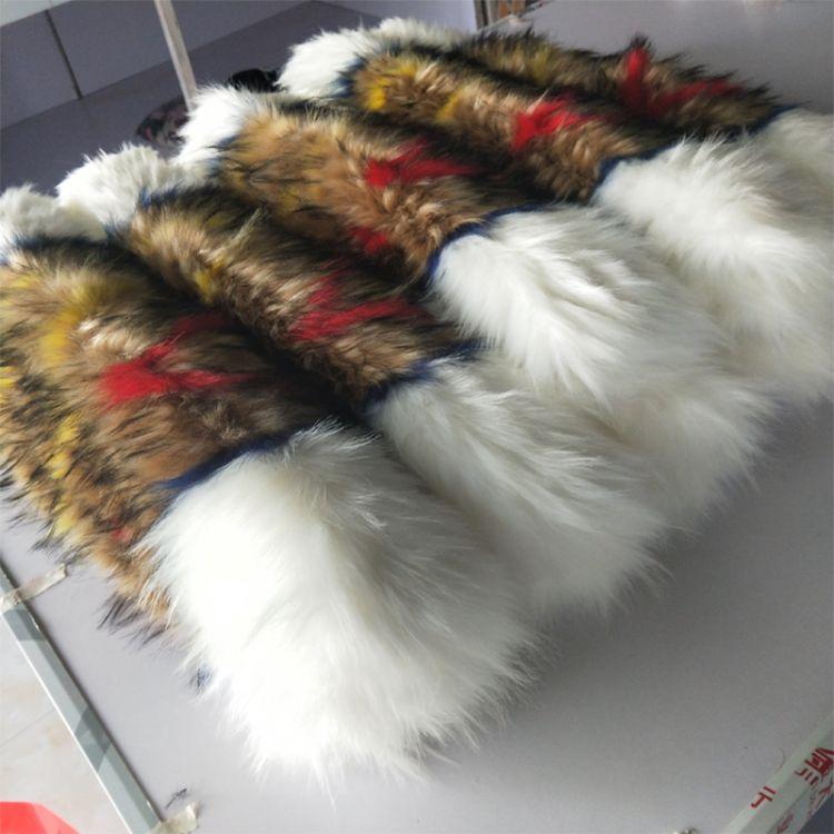 仿时尚皮草貉子毛领百搭优雅