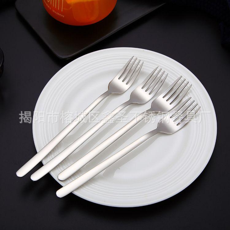 304不锈钢餐叉子水果沙拉成人牛排叉西餐餐具主餐叉创意甜品叉子