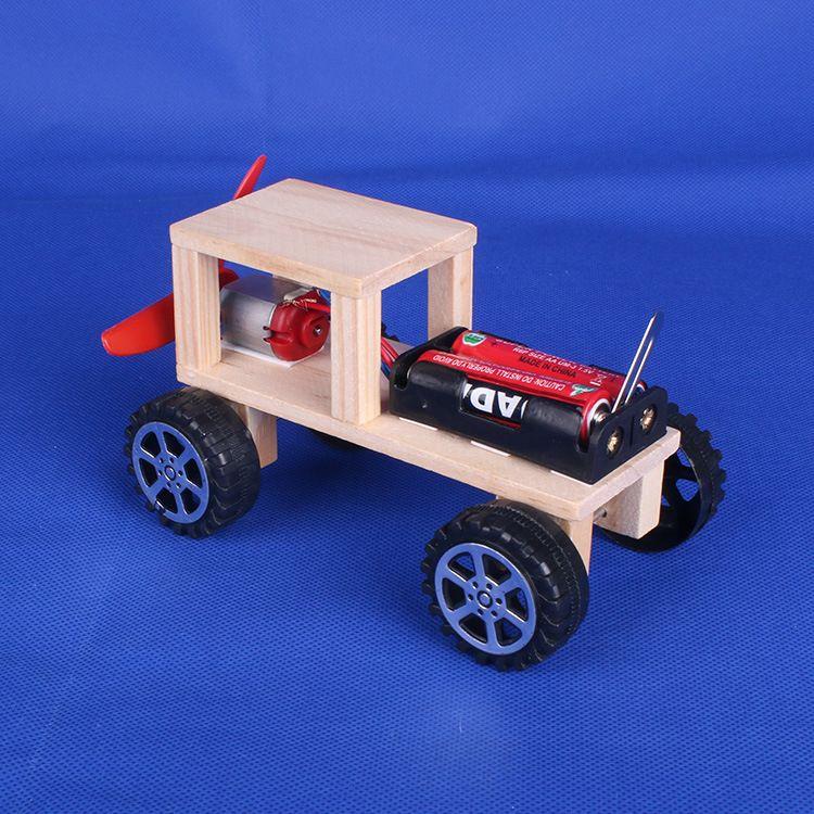 木质越野车 学生比赛科技小制作发明拼装科学实验玩具diy手工材料