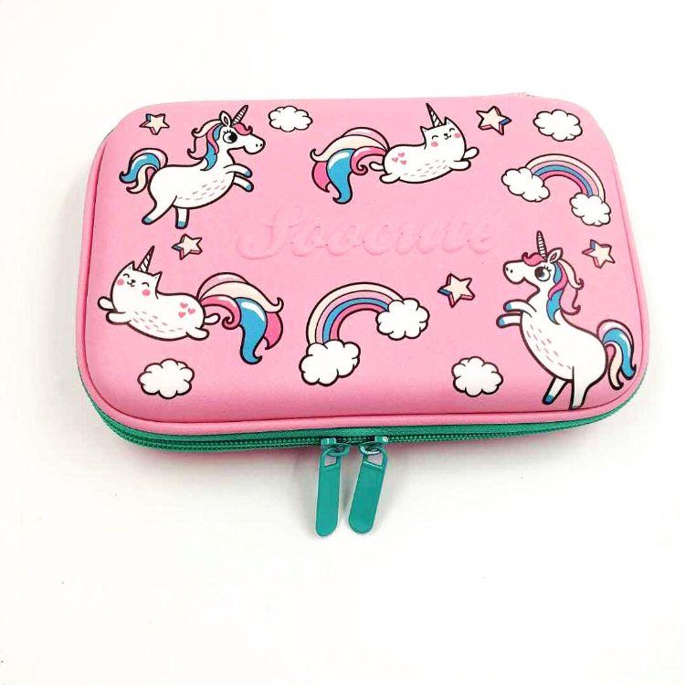 厂家现货澳洲文具盒可爱粉色独角兽EVA学生文具盒澳洲小天马笔袋