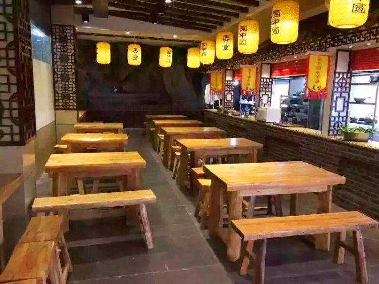 定做老榆木火锅桌 饭店桌椅板凳组合 实木餐饮家具