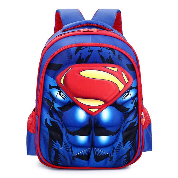 美国队长儿童背包1-2年级小学生书包蜘蛛侠卡通双肩书包代发