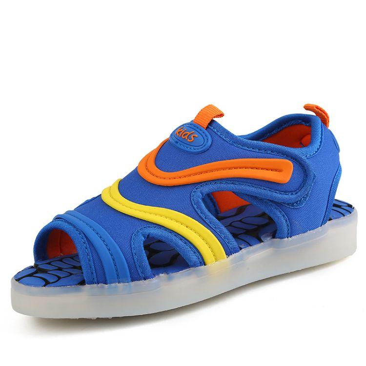 亚马逊wish速卖通ebay跨境爆款休闲透气舒适凉鞋童鞋灯鞋一件代发