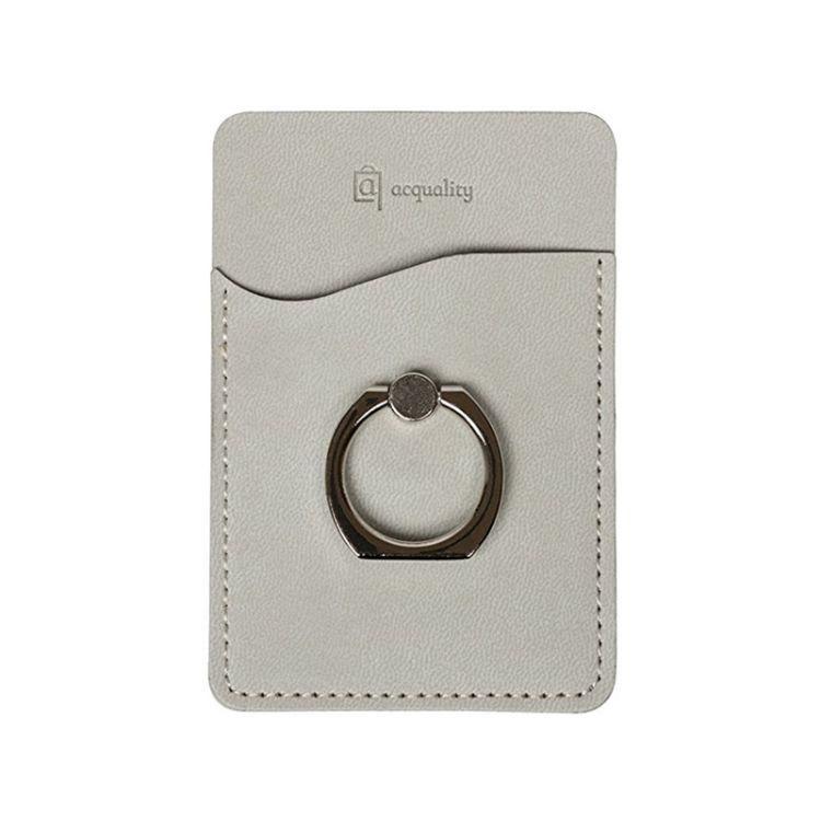 创意热销新款PU指环扣手机背贴 3M手机卡贴 可定制logo