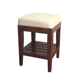 广州豪匠美业实木方凳定制批发实木美容按摩推拿床配套实木方凳