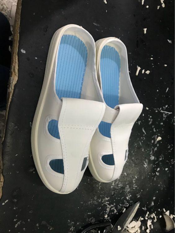 厂家直销皮革四孔拖鞋防静电鞋无尘鞋防尘工作鞋透气工作鞋