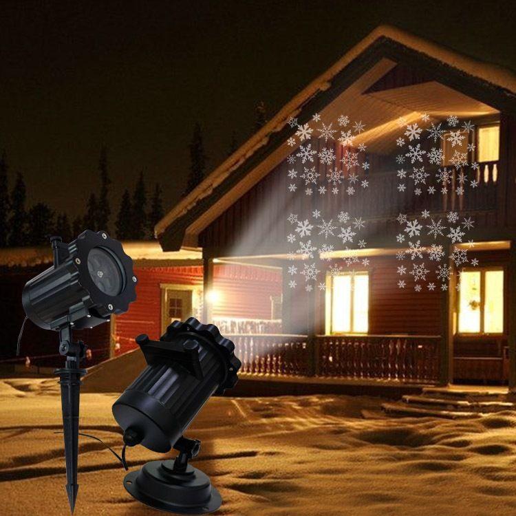 LED插地草坪灯 遥控投影图案,不容易退色 雪花灯 万圣12彩卡圣诞