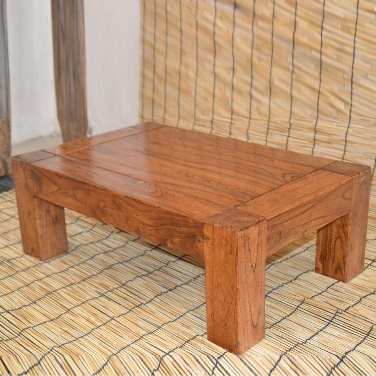 老榆木炕桌榻榻米小茶几飘窗桌子实木创意日式阳台桌地台桌小茶桌
