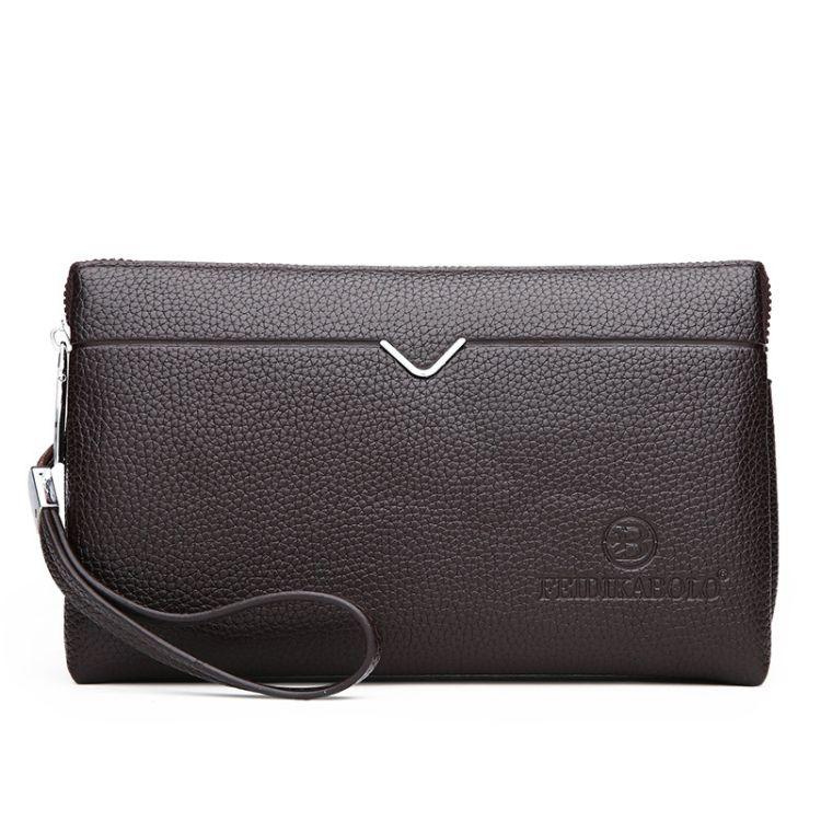 批发2018新款商务男士大容量手拿包时尚男士手抓包手拿包夹包代发