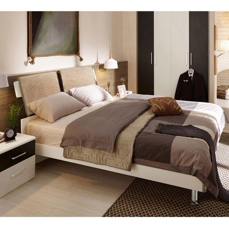 乔帝卧室北欧软靠床1.5单人床1.8双人床现代简约软包靠背床板式床