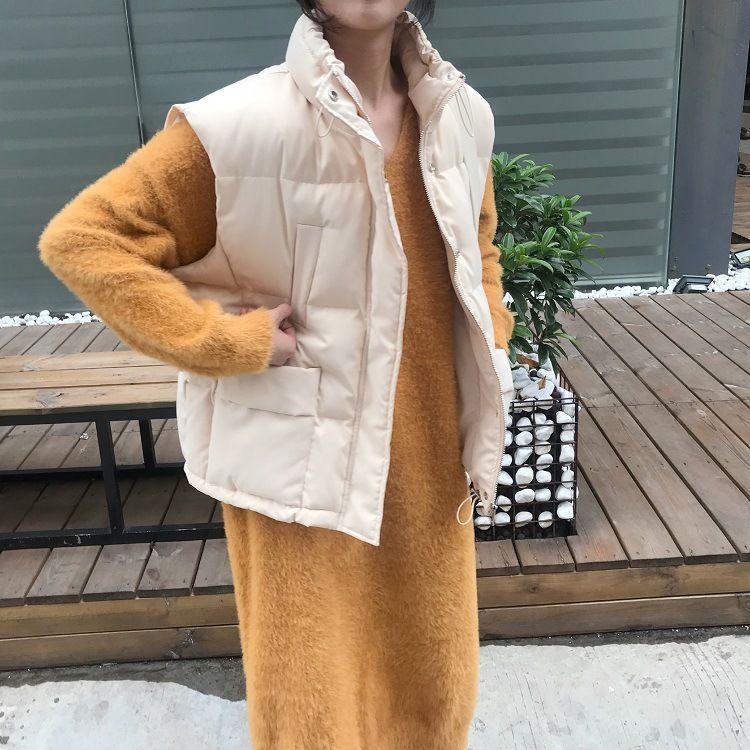 【买手小米】2018冬季马甲女棉背心羽绒棉韩版宽松短款面包服外套