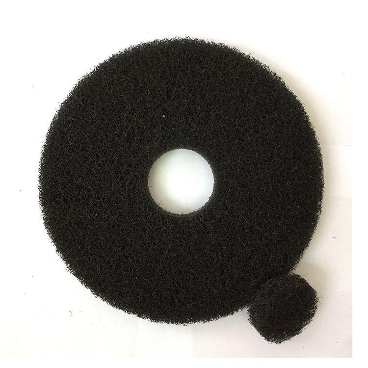 厂家直销黑色百洁垫加厚起蜡垫重污垢清洁17寸20寸5片装洗地机
