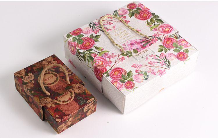 林源 礼品盒牛皮纸盒 定制长方形创意小礼盒 礼物包装盒定制