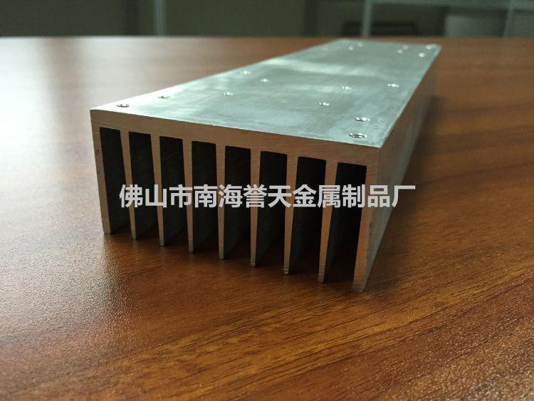 生产灯饰led路灯铝型材散热器 厂家定制铝材散热片氧化加工