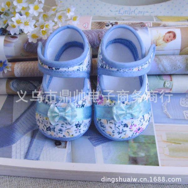 【爆款】粉蓝紫三色精美外贸婴儿学步鞋批发11 12 13码鼎帅
