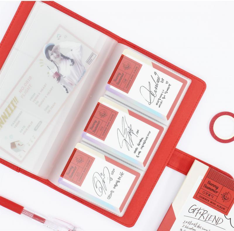 卡册收藏册明星小卡收集册大容量名片夹卡片收纳包韩国专辑小卡册