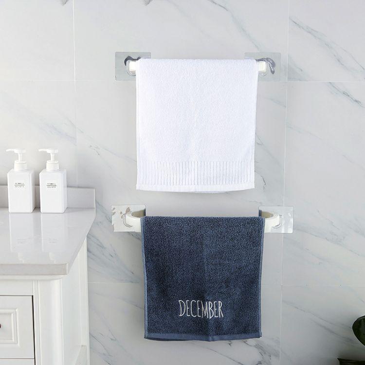 厂家直销 新款大号免打孔无痕塑料毛巾架浴室浴巾架卫生间毛巾架