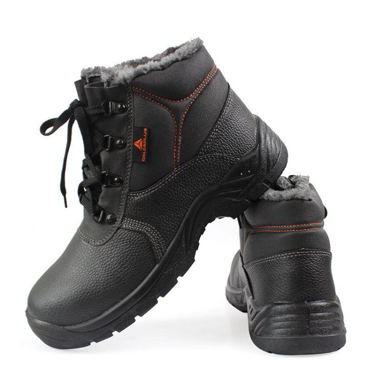 代尔塔防砸防刺穿防静电安全棉鞋透气冬季机修建筑造船鞋劳保鞋