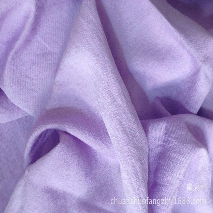【竹森】春夏纯色人棉亚麻衬衫3015 时装服装面料 垂性好布料