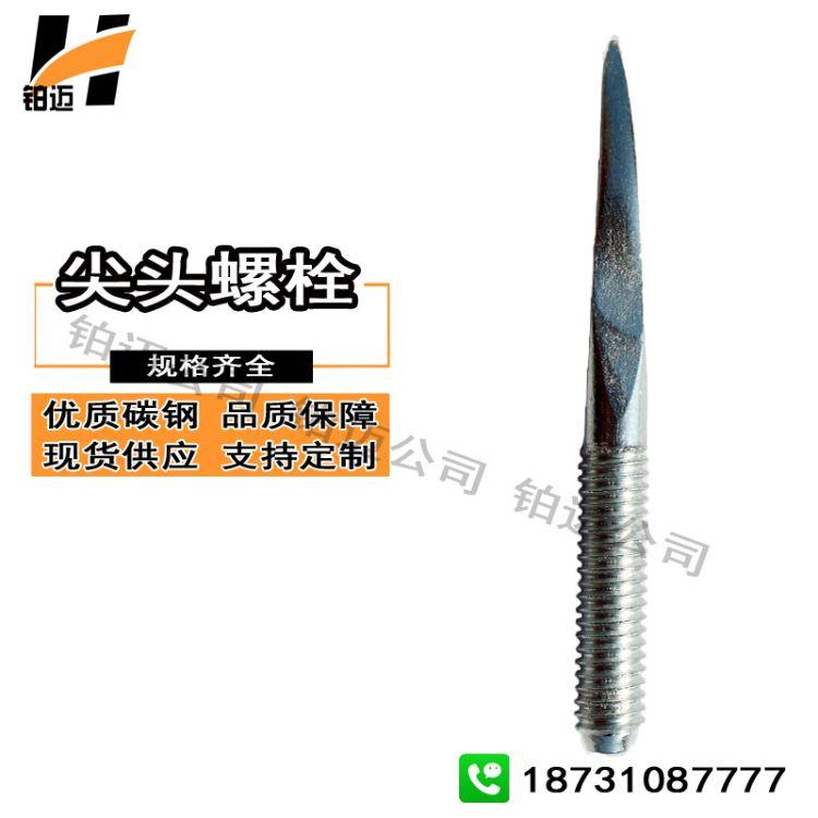 定制非标尖头螺栓 单头螺栓 单头钉子螺丝 尖头丝