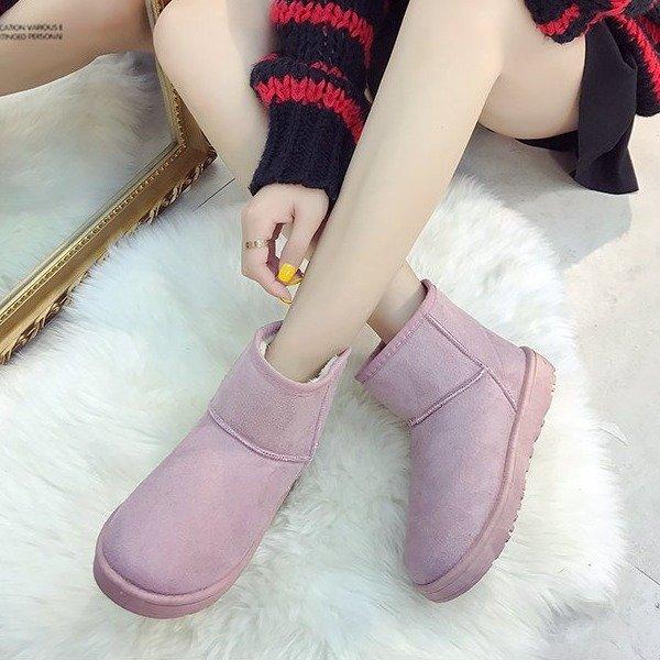 清仓处理冬季外贸厂家雪地靴女保暖加厚棉靴百搭韩版短筒靴女学生