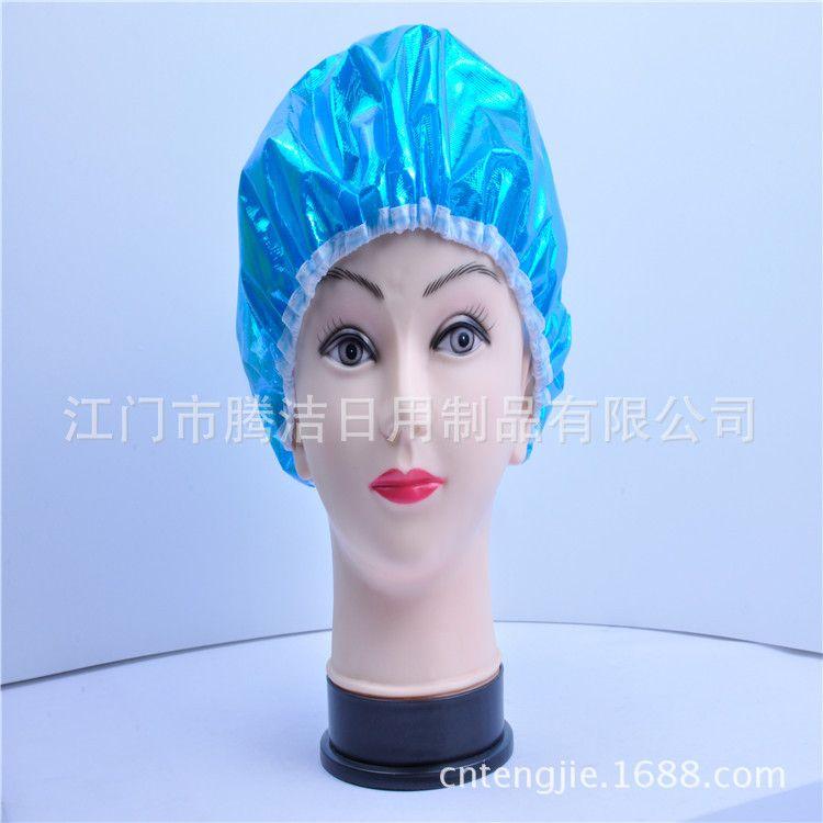 厂家直销防湿发浴帽,镭谢布面,双层防水。
