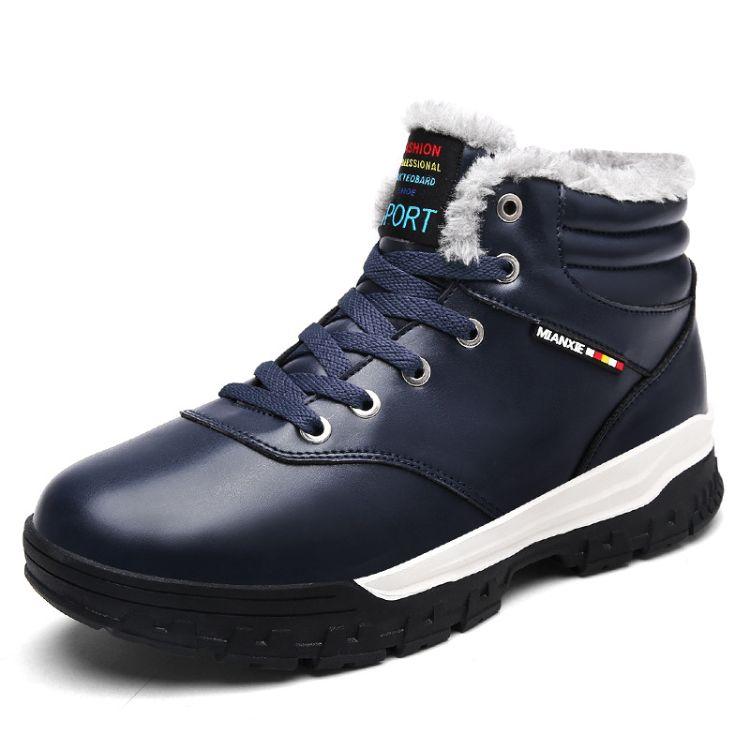 秋冬季高帮鞋2018新款加绒中低帮马丁靴男潮雪地短靴韩版保暖棉