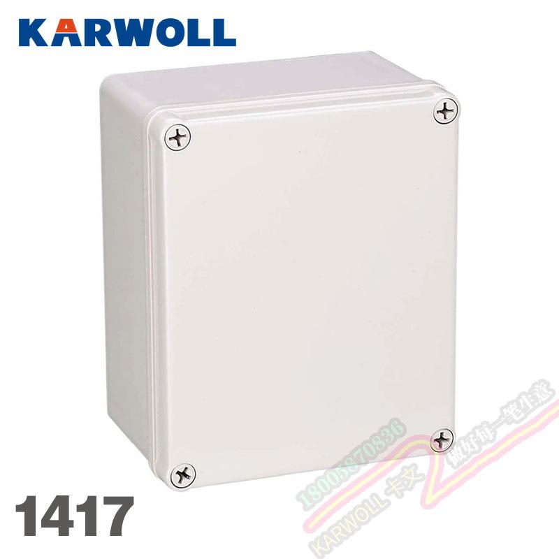 AG-1417户外监控电源箱 塑料壳配电箱接线盒 室内外防水接线盒ABS