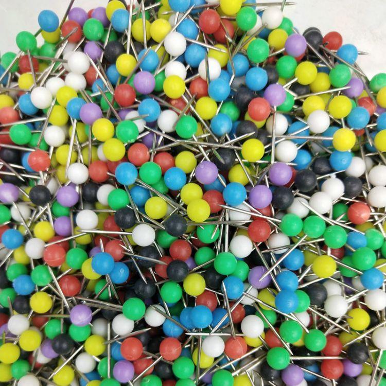 锦豪 彩色大头针 珠针 固定线轴圆头针 渔具配件针
