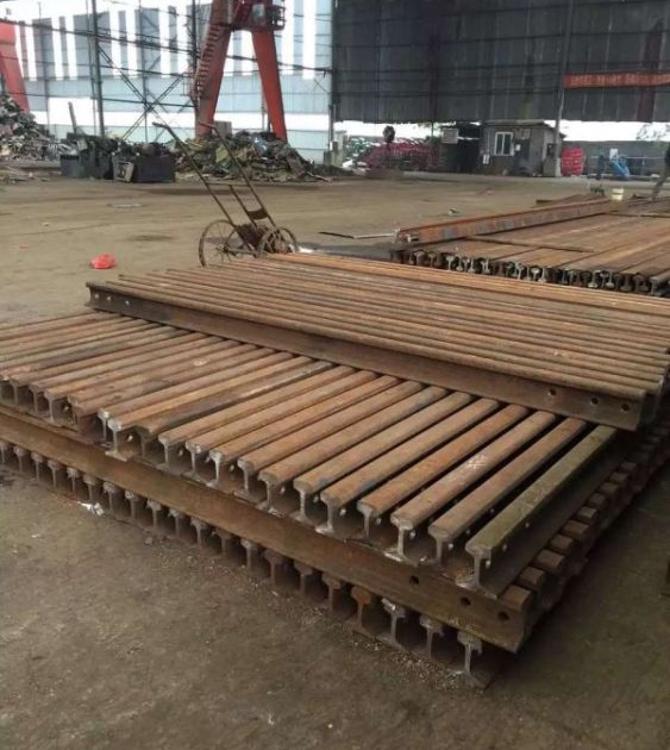 昆明  地铁 高铁 铁路钢轨12.5米P43再用钢轨 旧钢轨 现货供应