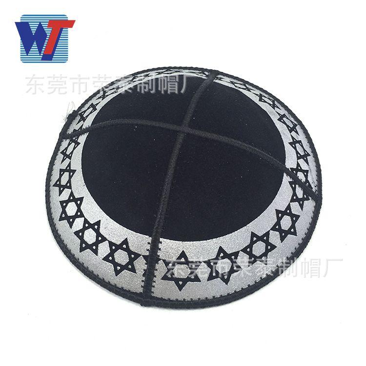 清真寺白色绣花礼拜帽定制 穆斯林男士帽阿拉伯帽民族帽定做