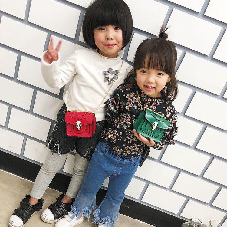 韩版儿童2018春季新款单肩女包时尚百搭斜挎包撞色舌头迷你小包潮