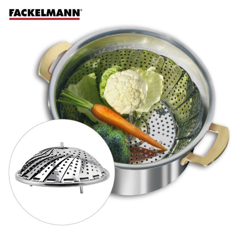 FACKELMANN德国法克曼不锈钢蒸菜篮家用厨房蒸菜盘蔬菜水果沥水盘