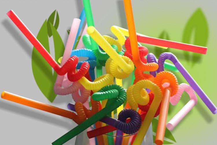 环保安全卫生的彩色一次性食品级PP材料.彩色艺术吸管可以任意DIY