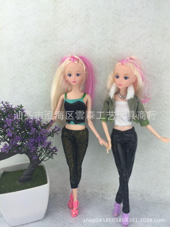 厂家直销11寸换装娃娃衣服女孩娃娃玩具时尚休闲服饰两件套三件套