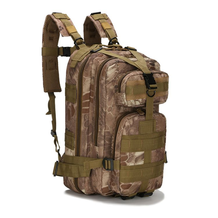 厂家直销新品户外运动迷彩背包军迷登山徒步双肩3P战术背包