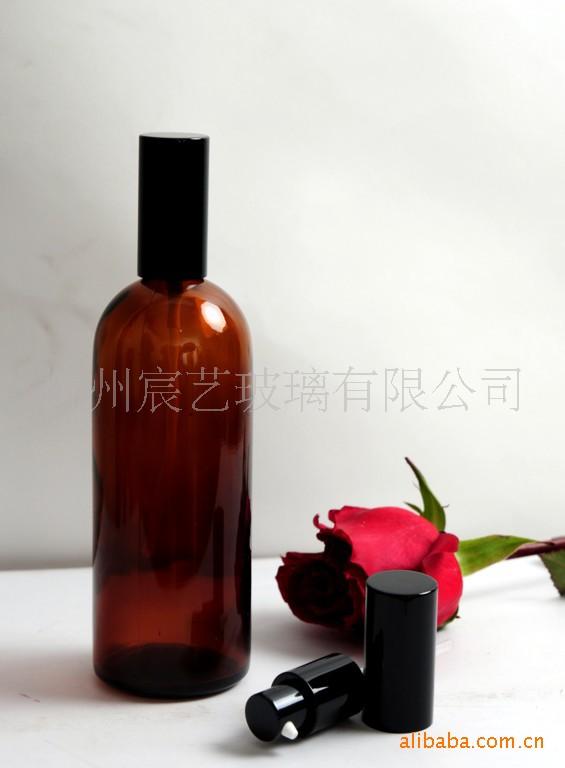 供应茶色200毫升精油瓶、电化铝喷头、自动精油瓶。