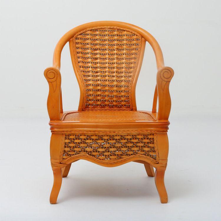 昌盛藤器 腰托藤椅 真藤椅 手工编织藤艺椅 办公椅 家用高靠背护腰藤编椅厂家供应