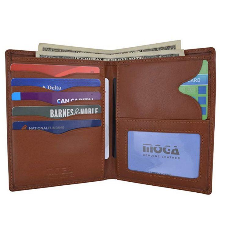 跨境货源真皮护照包 亚马逊大容量RFID钱包卡夹 定制LOGO厂家批发