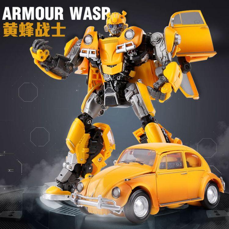 厂家直销黑曼巴变形金刚玩具大黄蜂甲壳虫威震V级天机器人汽车手办模型黑曼巴批发