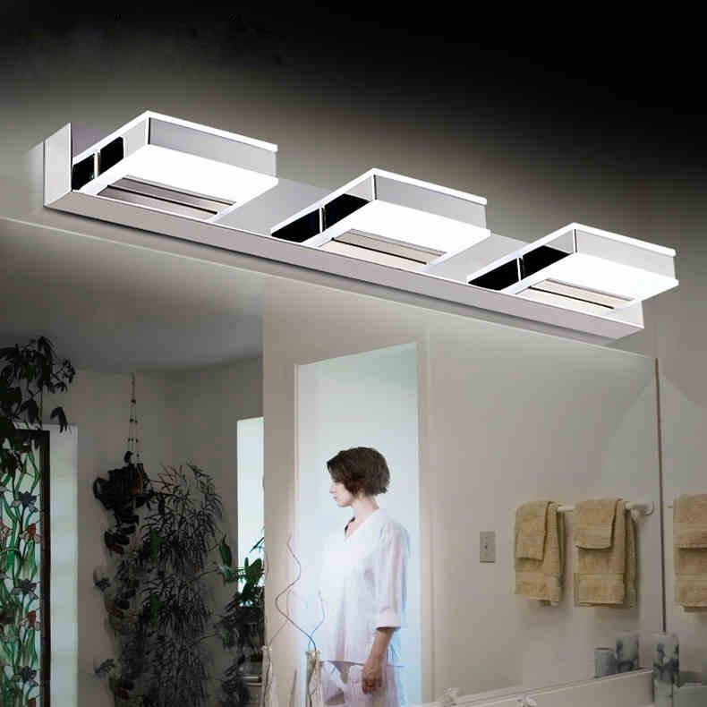 厂家直销现代亚克力LED镜前灯卧室卫浴灯镜柜三头镜前灯一件代发