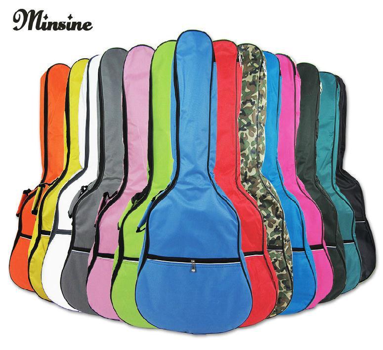 彩色双肩木吉他包加棉5mm琴包多色39寸40寸41寸民谣彩色包