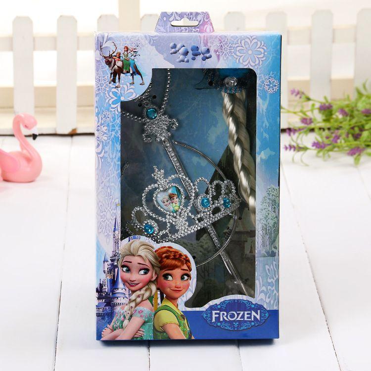 卡通女孩公主头饰 发饰 皇冠魔法棒 超市儿童玩具 饰品套装
