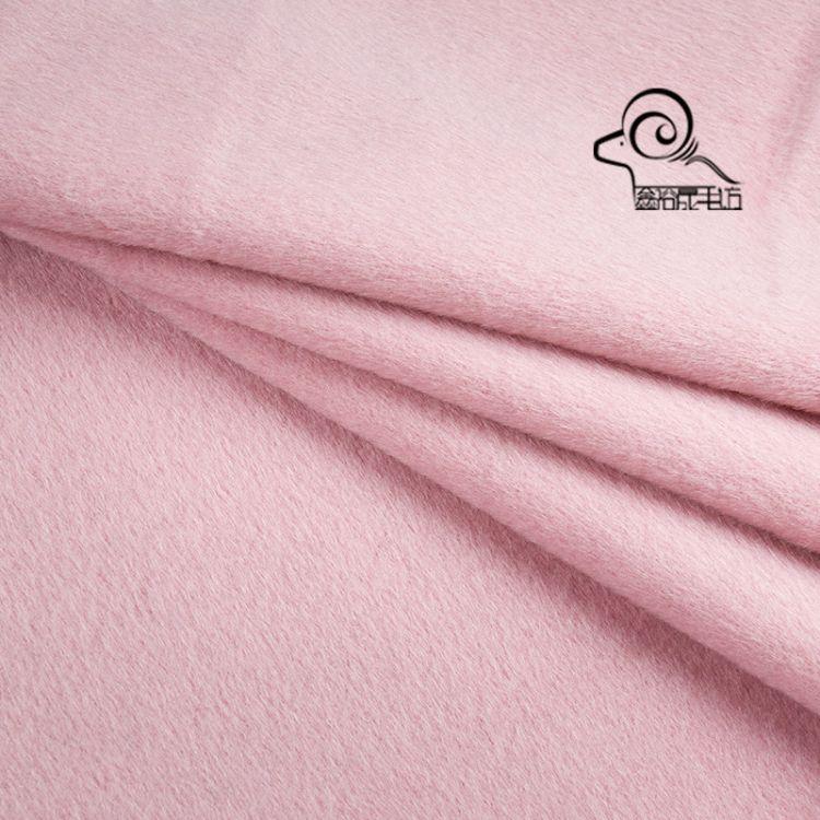 厂家直销秋冬毛纺面料580克顺毛短顺单面羊绒面料现货批发