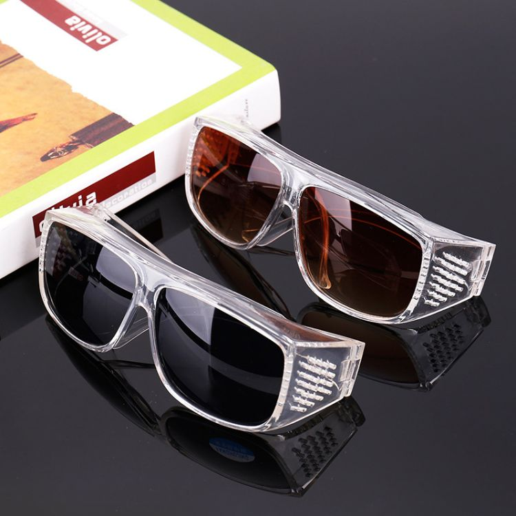 厂家直销时尚百搭高清偏光劳保镜防风防沙坚固耐用护目劳保眼镜