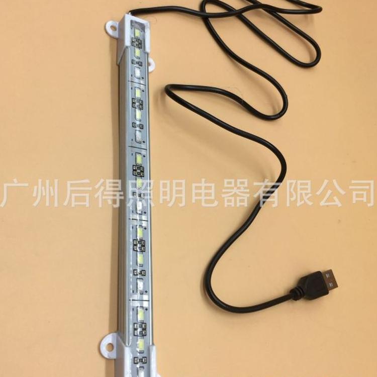 后得 定制 5V  USB 20CM 15灯 二白一蓝50CM线长 5730 滴胶硬灯条
