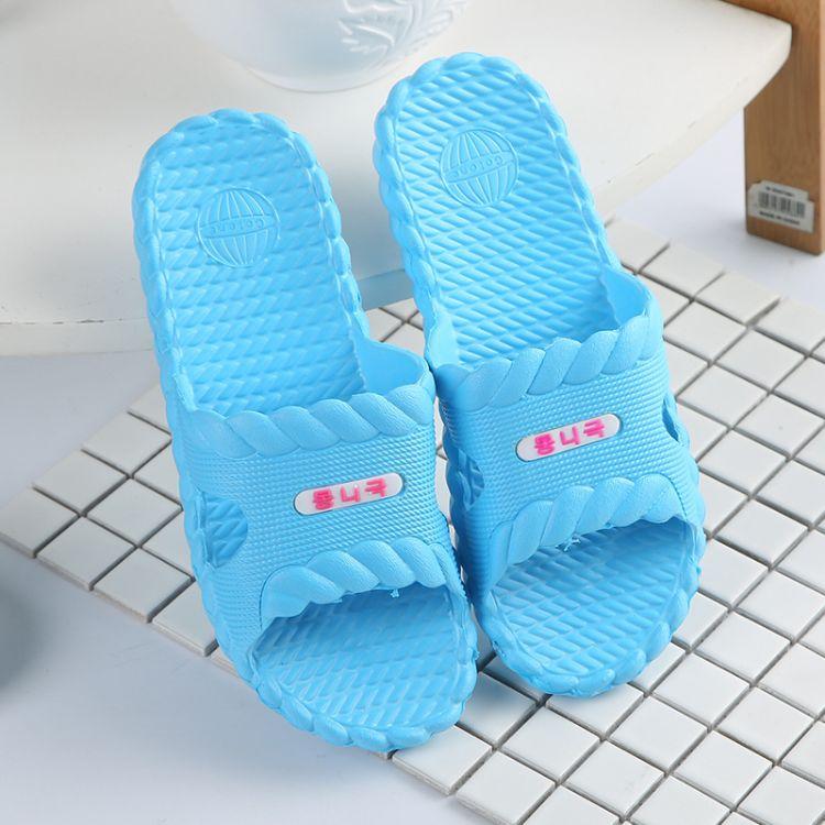 防滑浴室拖鞋 加厚家居情侣男女条纹按摩凉拖鞋定制批发