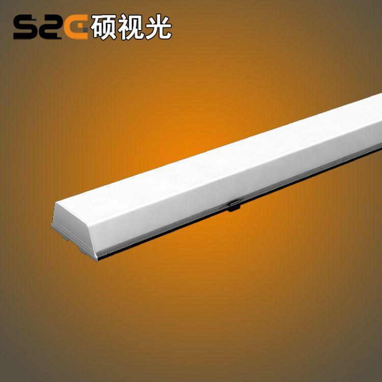 LED五面发光线条灯 100X1200MM 吸顶灯具 无影拼接 工厂订制