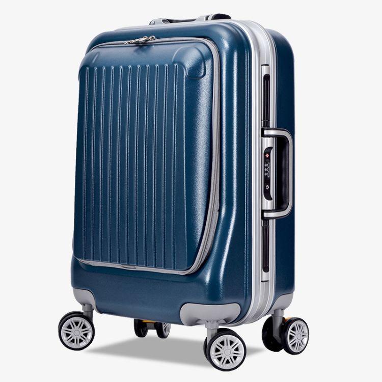 2016新款高档PC铝框前盖加开拉链拉杆箱20/24寸旅行行李箱万向轮